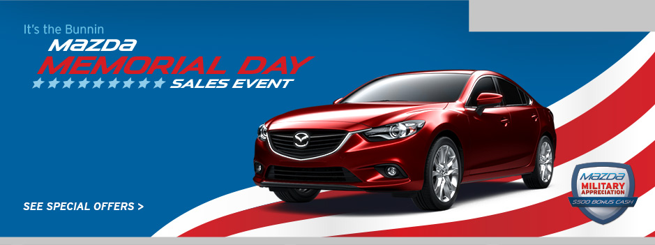 Bunnin Mazda | New & Used Cars | Ventura, Camarillo, Oxnard | Memorial Day Sales Event